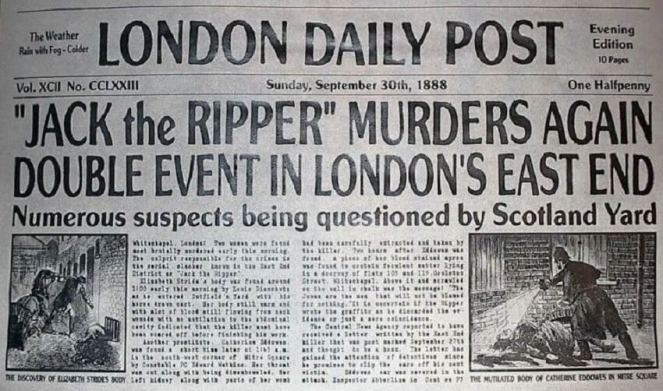 Image result for jack the ripper victorian newspapers